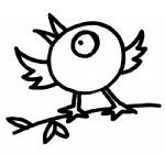 简单的小鸟简笔画