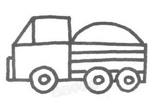 大货车简笔画