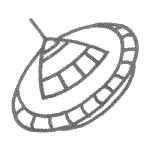 简单的飞碟简笔画