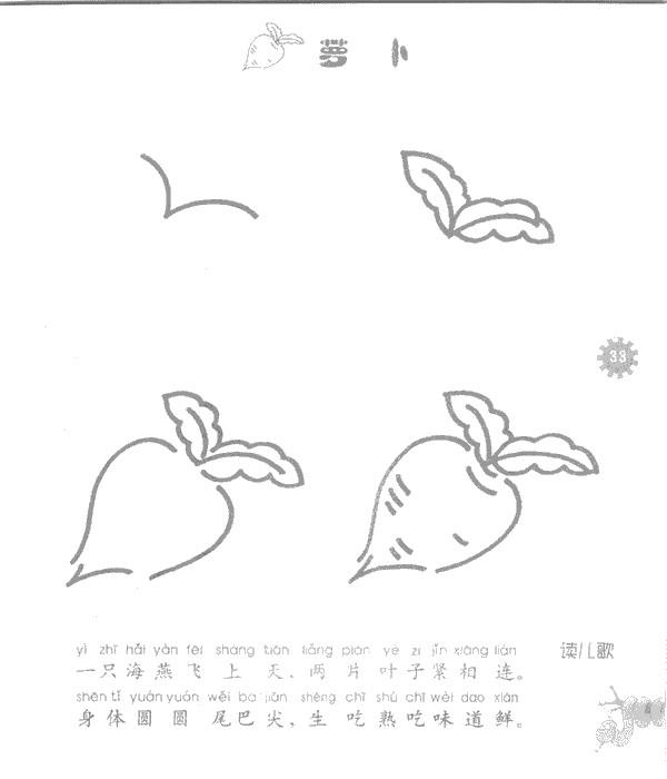 萝卜儿歌和简笔画教程