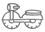 摩托车简笔画怎么画