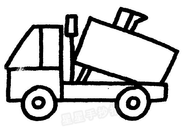 清洁车简笔画图片