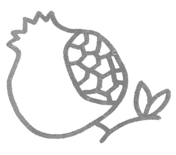 石榴儿歌和简笔画教程