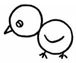 卡通小鸡简笔画