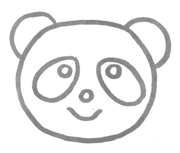 熊猫简笔画图片步骤教程