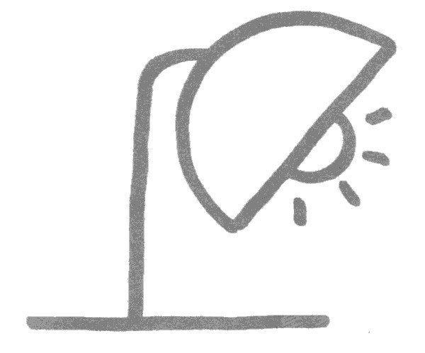 台灯简笔画怎么画图解教程