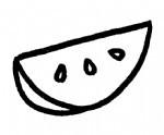 西瓜简笔画图片步骤教程