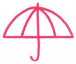 雨伞简笔画图片步骤教程