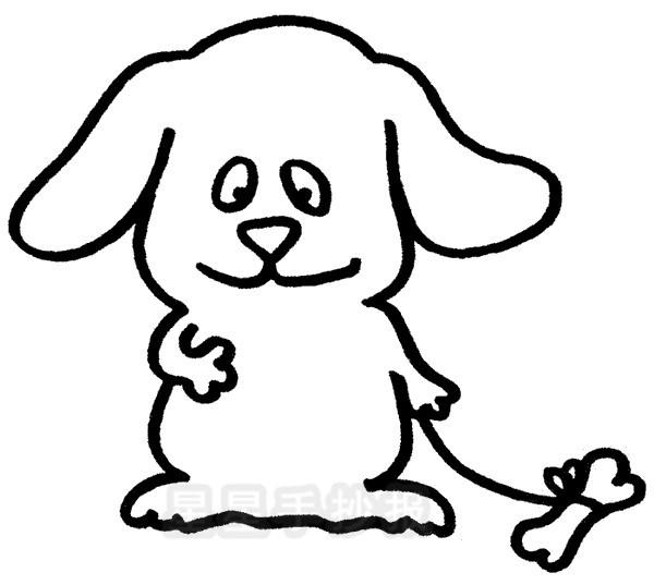 小狗简笔画图片步骤教程
