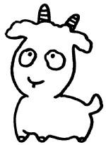 山羊简笔画图片画法