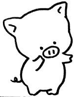 小猪简笔画图片画法