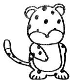 豹子简笔画图片步骤教程