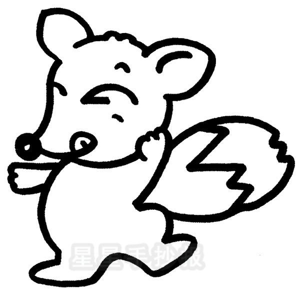 狐狸简笔画图片教程