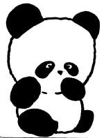 卡通熊猫简笔画