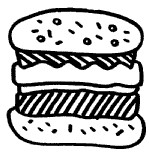 汉堡简笔画
