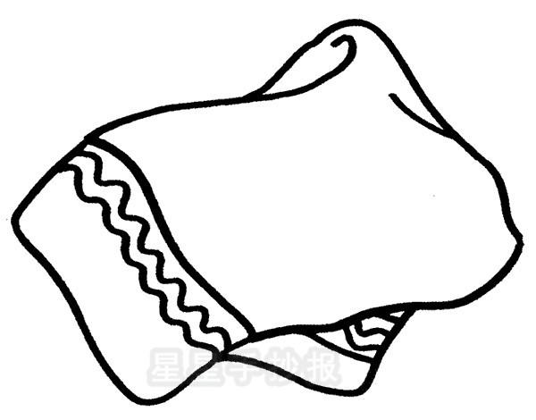 毛巾简笔画