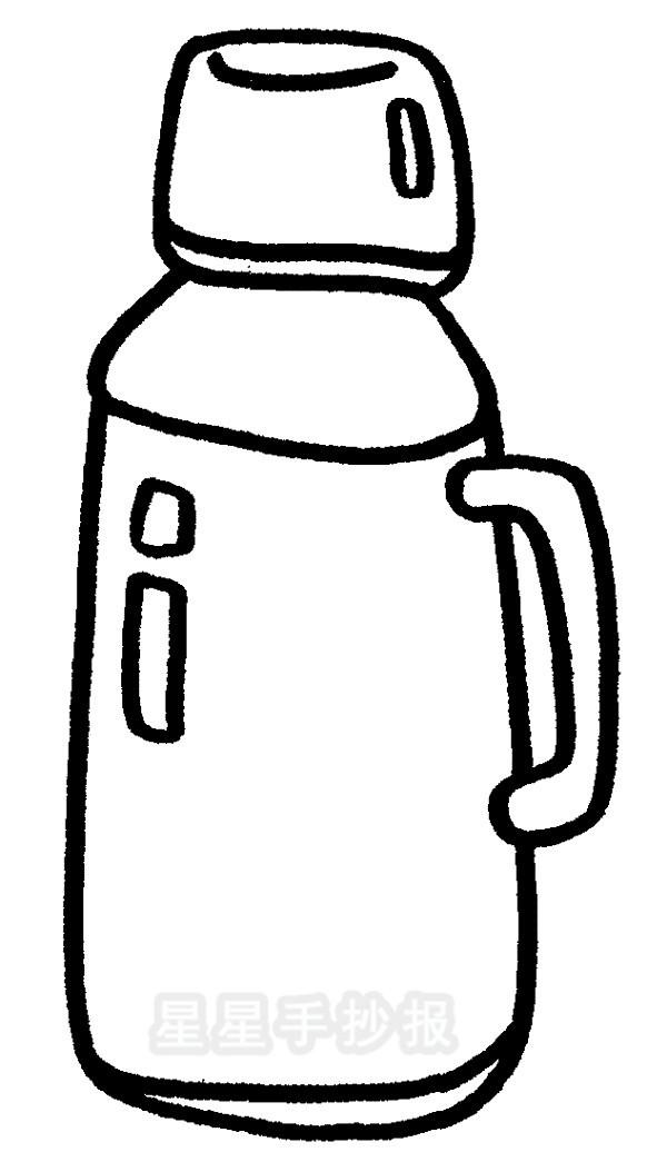 热水壶简笔画怎么画