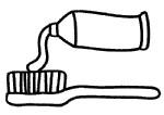 牙膏和牙刷简笔画