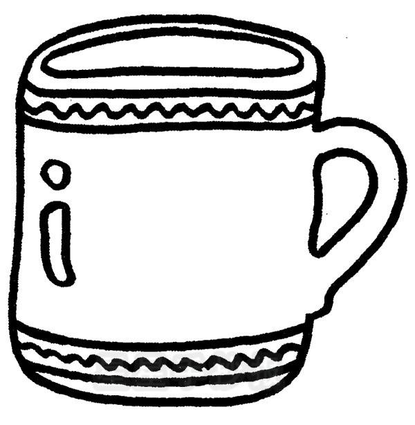 茶杯简笔画简单画法
