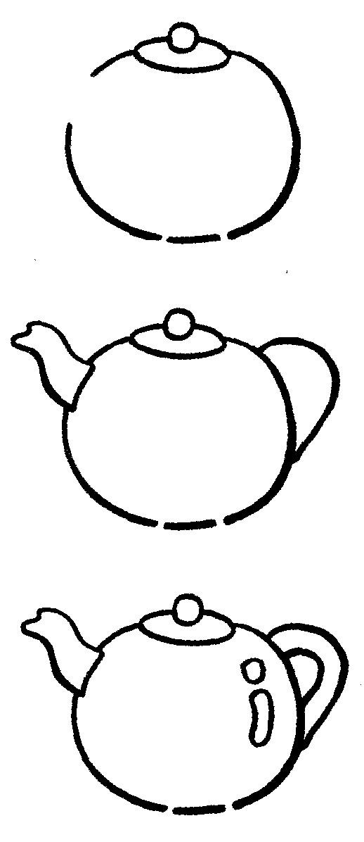 茶壶简笔画图片步骤教程