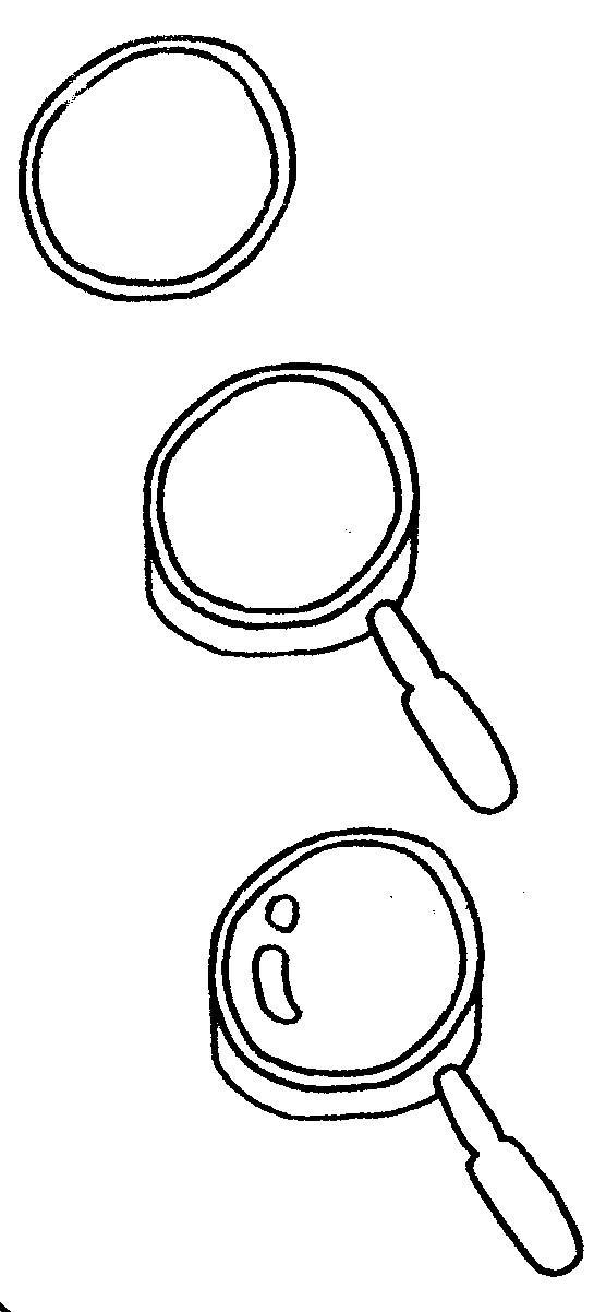 放大镜简笔画怎么画