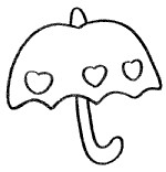 简单的雨伞简笔画