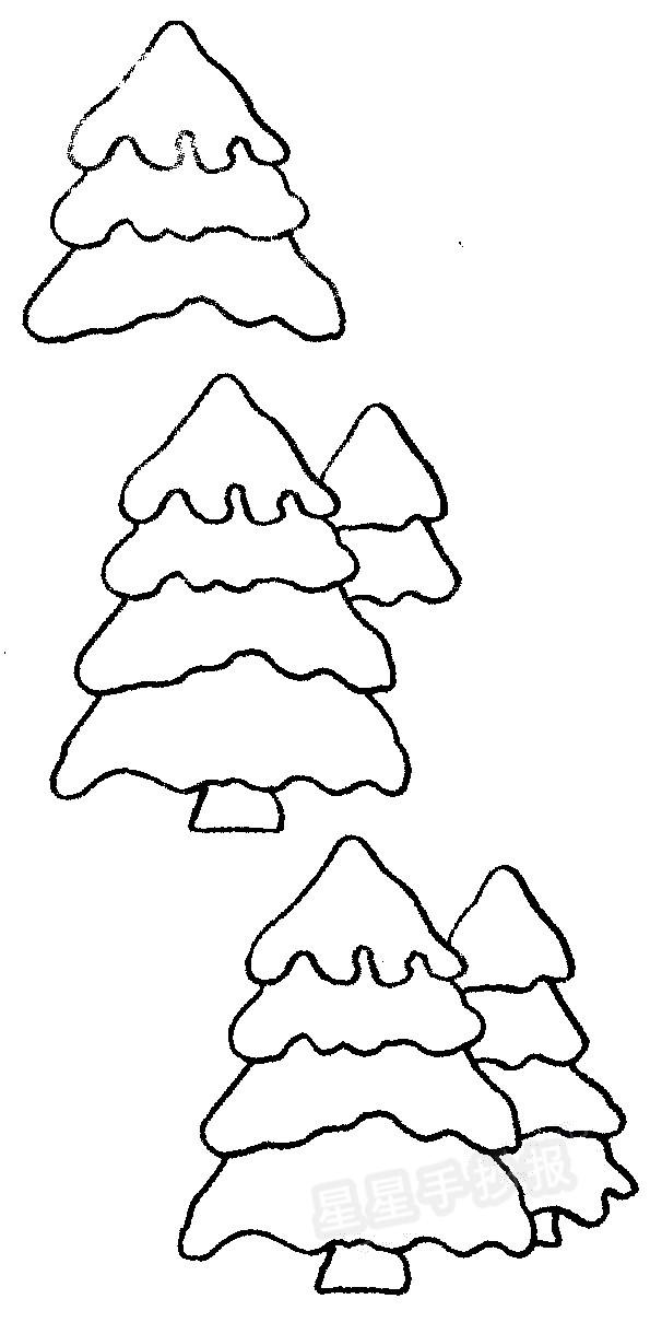 圣诞树简笔画图片教程