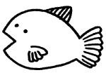 卡通热带鱼简笔画
