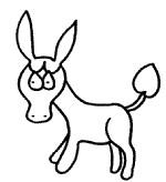 毛驴简笔画怎么画
