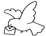 卡通鸽子简笔画