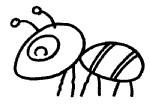 蚂蚁简笔画图片步骤教程