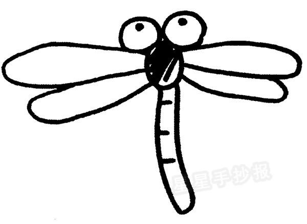 简单的蜻蜓简笔画