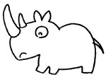 犀牛简笔画简单画法