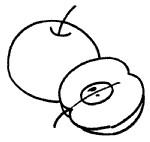 卡通苹果简笔画