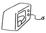 微波炉简笔画简单画法