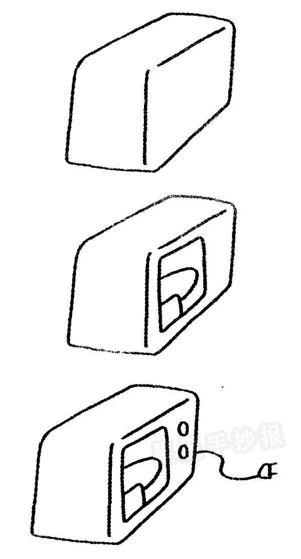 微波炉简笔画