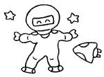 宇航员简笔画简单画法