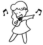唱歌简笔画怎么画
