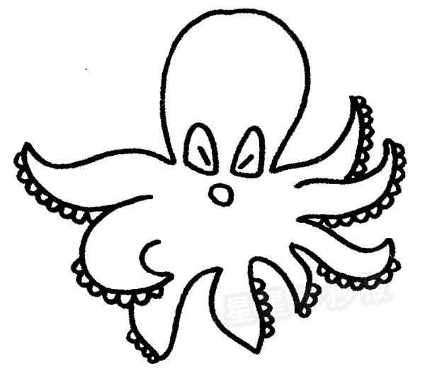 星星报 简笔画 动物简笔画 >> 正文内容   章鱼的形态特征内容: 章鱼