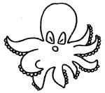 章鱼简笔画图片教程