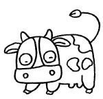 奶牛简笔画图片画法