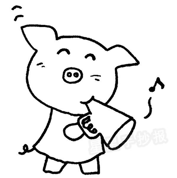猪简笔画怎么画