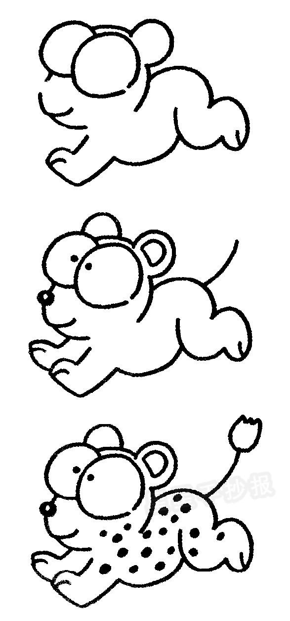 豹子简笔画图片画法