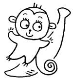 简单的猴子简笔画