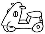 摩托车简笔画图片教程