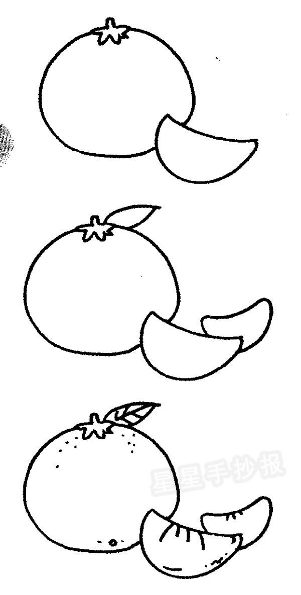 各种蔬菜简笔画大全_橘子简笔画图片大全