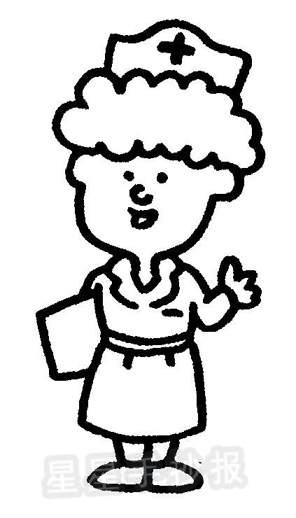 护士简笔画图片画法