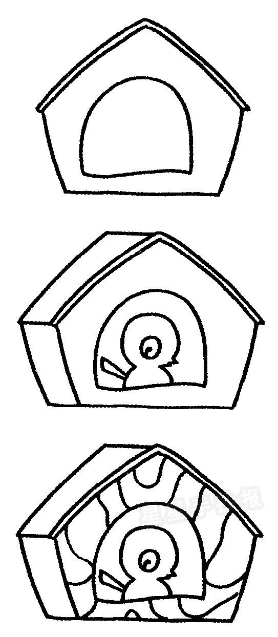 鸟窝简笔画