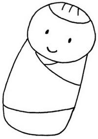 婴儿简笔画图片画法