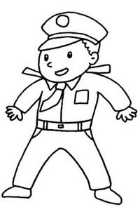 警察简笔画简单画法